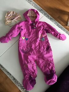 Fall/ spring fleece lined toddler suit