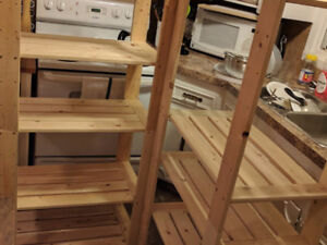 Two Pine Storage Shelves