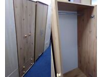 NEW Pine Effect 2 Door 2 Drawer Wardrobe