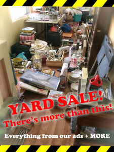 YARD SALE!   -   SATURDAY JULY 29   -   LOTS OF QUALITY ITEMS!
