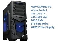 NEW Water Cooled Core i7, GTX 1070, 1TB, 16GB Gaming PC Computer