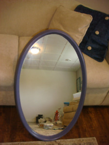 Solid Wood Frame Oval Mirror