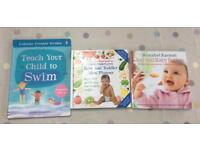 Baby books x3 swimming and weaning