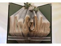 Bespoke book folding MR & MRS