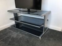TV Entertainment Stand - Tempered Glass
