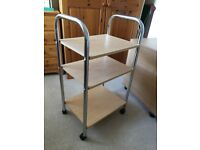 Trolley - beech effect - excellent condition