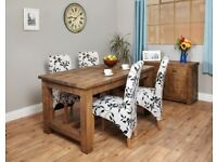 Provincial Coarse-Cut Oak Refectory Dining Table Four-Seater - Brand New - Free Delivery
