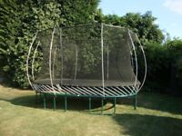 Springfree large oval trampoline with safety enclosure: Model SF60E 8 X 13
