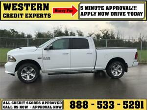 2014 Ram 1500 Sport 4x4 LOADED ~ 5 Minute Approval $239 B/W