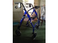 Mobility aid, 4 wheels with chair
