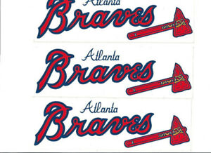 9 ATLANTA BRAVES BASEBALL BUMPER STICKERS