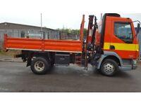 Daf LF 7.5 ton Tipper Crane