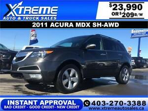 2011 Acura MDX SH-AWD $209 BI-WEEKLY APPLY NOW DRIVE NOW