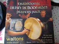 "Irish 18"" Bodhrán with cover boxed"