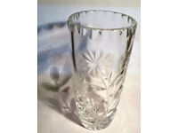 vintage cut glass flower vase