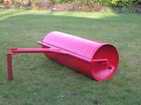 3ft wide steel garden roller.