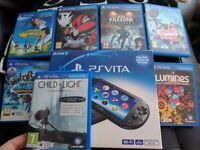 Ps vita slim (PCH 2003), 16gb memory card, ar cards, 8 games.