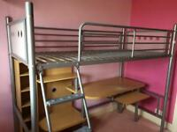 High sleeper single bed