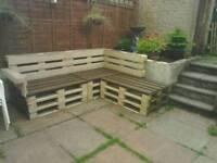 Garden pallet sofa