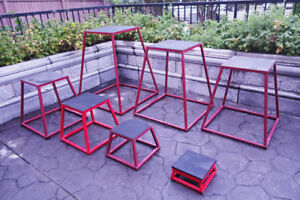 Plyometric jump boxes -commercial grade tubular steel