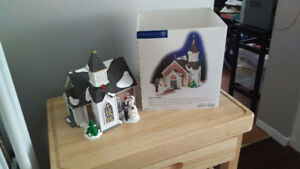 Department 56 Woodlake Chapel (Set of 2) Snow Village