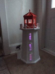 Peggy's Cove Lighthouse Replica 4 footer for drilled well