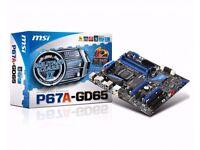 MSI P67A-GD65 (B3) LGA 1155 Sandybridge Motherboard