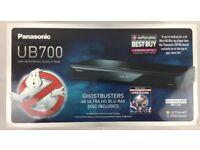 Panasonic 4K Ultra HD Blu-Ray Player UB700EBK Ghostbuster Blu Ray Included
