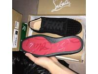 Christian Louboutin Low top Spiked Suede red Bottom Men's Sneakers