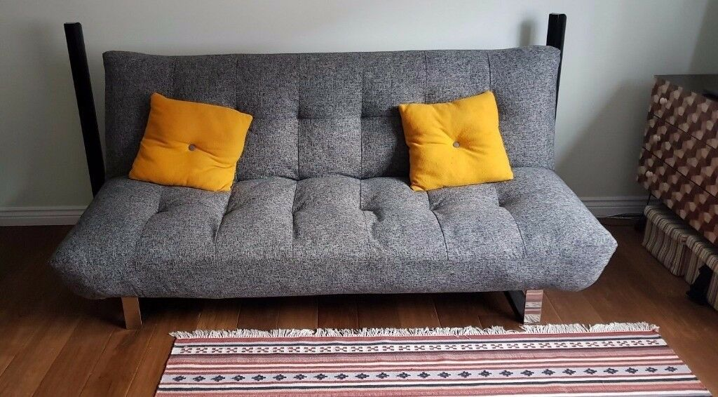 Tyler Grey Sofa Bed From Dreams