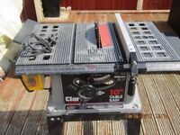 """Clarke 10"""" table saw good condition any trial."""