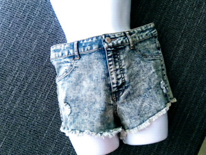 Distressed High Waist Jean Shorts!!