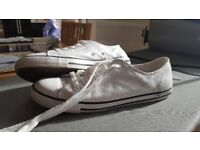 White Leather Coverse Womens UK 5