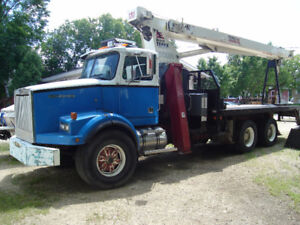 PRICE REDUCED AGAIN ....WESTERN STAR BOOM TRUCK WITH TEREX CRANE