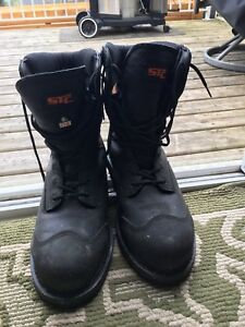 STC size 12 steel toed boots