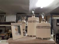Oval glaze jar various