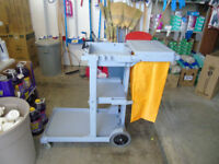 janitorial cart, utility cart, CLEANING CART janitor