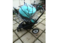 mothercare xpedior travel system(BLUE)