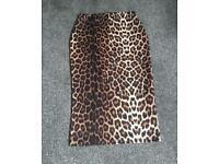 Leopard print River island midi skirt