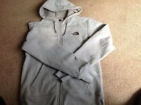 Light grey North Face hoodie