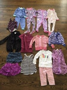 Size 3T girls clothing - PJ's, sweaters!