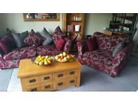 Three seat sofa and cuddle chair