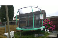 10ft Trampoline 1 year old very good condition, Pick up only. £55.