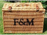 Fortnum & Mason wicker hamper basket - as new