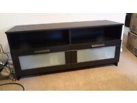 LIVING ROOM SET: Black bookcase, black coffee table, black tv unit, tempered glass tv stand