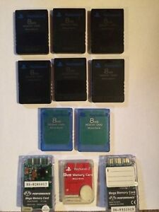 PlayStation 2 Memory Cards And Controllers
