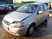 chevrolet kalos parts fron 2005 car 1.2 5 door silver