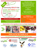 Community Health Fair - Sept. 19 White Buffalo Youth Lodge