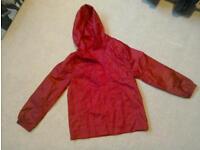 Unisex red pacamac age 9-10years never worn