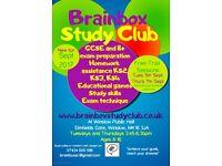 Brainbox Study Club: GCSE and 11+ tutoring, homework assistance KS2 KS3 KS4. Winslow Buckinghamshire